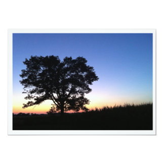 Sunset Tree Silhouette Photo Invitation Template