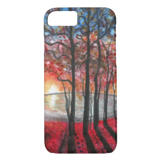 Sunset Trees and Lake Scene iPhone 7 Case