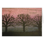 sunset trees card