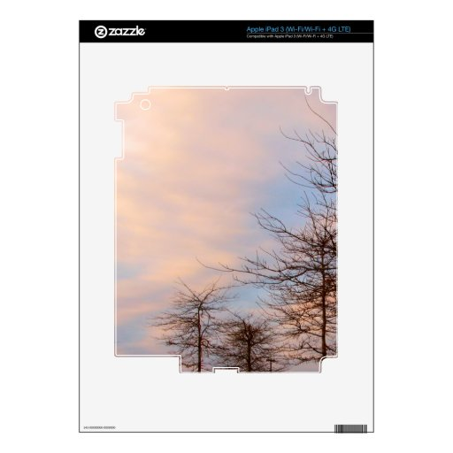 SUNSET TREES IN WINTER DECAL FOR iPad 3