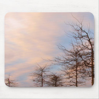 SUNSET TREES IN WINTER MOUSEPADS