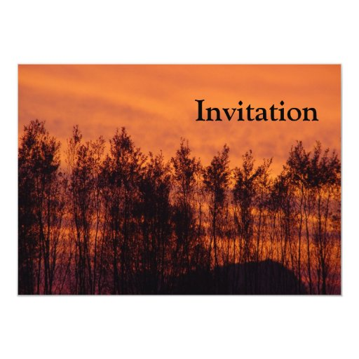 Sunset-Trees on Fire Custom Announcements