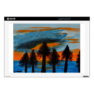 """Sunset Trees 17"""" Laptop Skin"""
