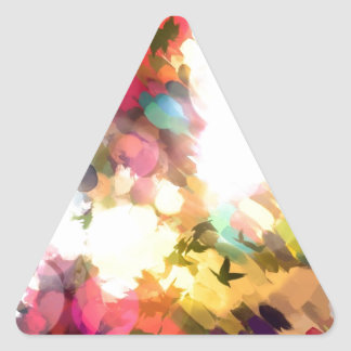 Sunset Triangle Sticker