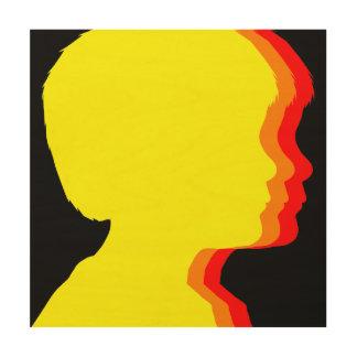 Sunset Trio Silhouette Wood Prints