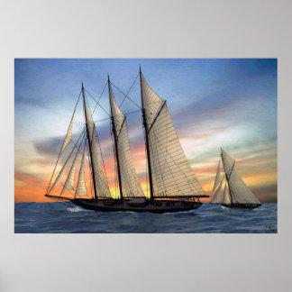 sunset trip print