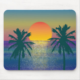Sunset Tropicana Mouse Pad
