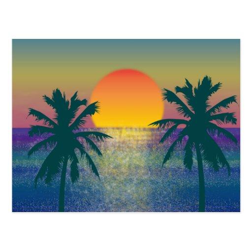 Sunset Tropicana Postcard