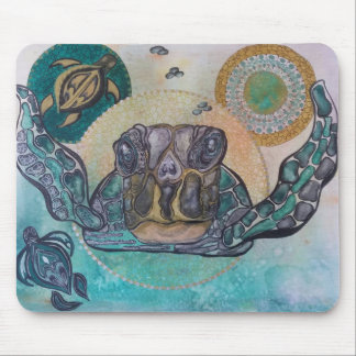 Sunset turtles mouse pad