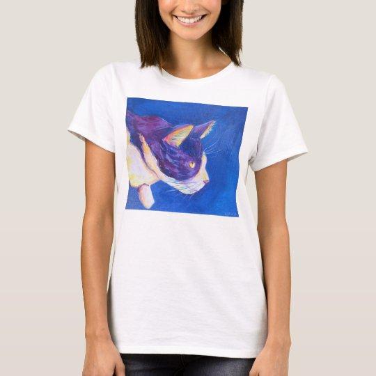 Sunset Tuxedo Cat Cool Art Custom Pet Shirt
