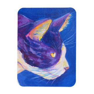 Sunset Tuxedo Cat Lover Custom Art Magnet