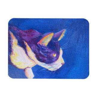 Sunset Tuxedo Cat Lover Custom Art Magnets