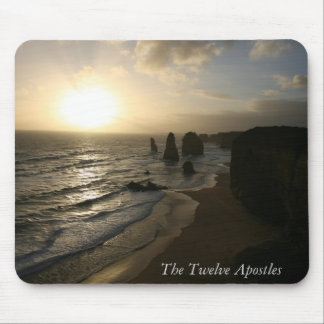 Sunset, Twelve Apostles, Great Ocean Road Mouse Pad