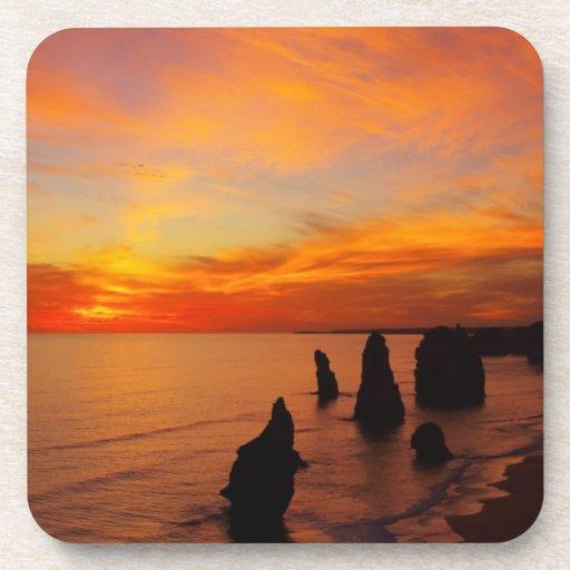 Sunset, Twelve Apostles, Port Campbell National Beverage Coaster