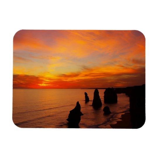 Sunset, Twelve Apostles, Port Campbell National Magnet