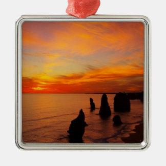 Sunset, Twelve Apostles, Port Campbell National Metal Ornament