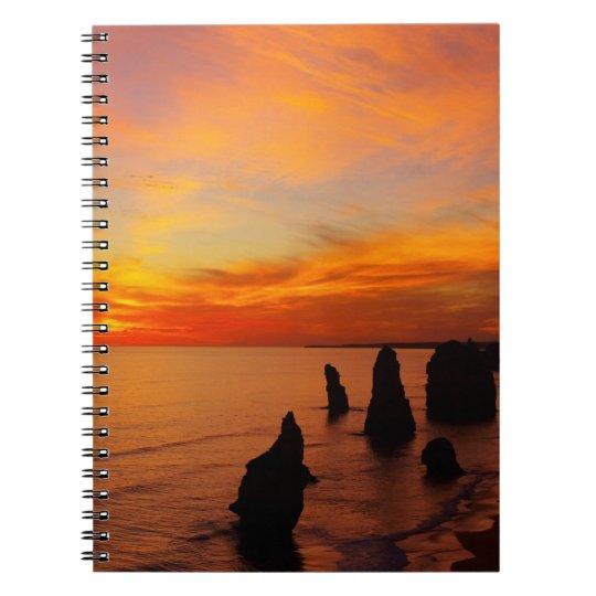 Sunset, Twelve Apostles, Port Campbell National Notebook