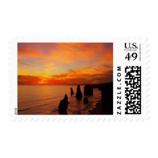 Sunset, Twelve Apostles, Port Campbell National Stamp