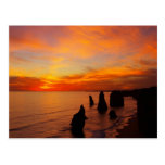 Sunset, Twelve Apostles, Port Campbell National Post Cards