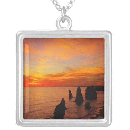 Sunset, Twelve Apostles, Port Campbell National Silver Plated Necklace