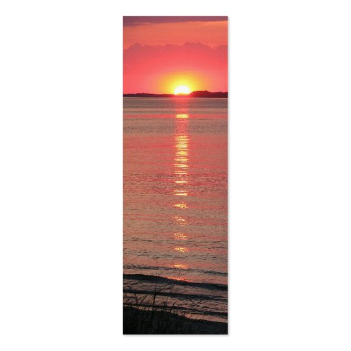 Sunset Twilight Bookmark/Business Cards Double-Sided Mini Business Cards (Pack Of 20)