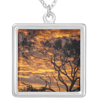 Sunset, Uluru-Kata Tjuta National Park, Silver Plated Necklace