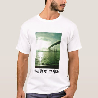 Sunset under Coronado bridge Nov 22 08 2, saili... T-Shirt
