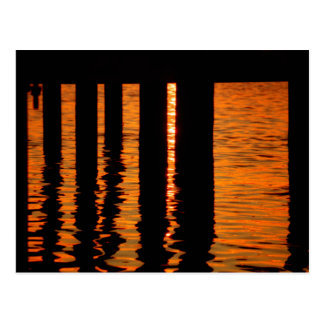 Sunset Under the Dock Postcard