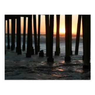 Sunset Under The Pier Postcard