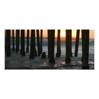 Sunset Under The Pier Rack Card