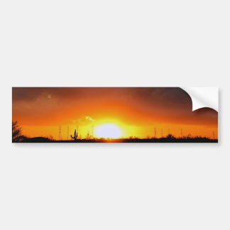 Sunset under the storm. bumper stickers