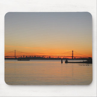 Sunset under the Whitestone bridge Mouse Pad