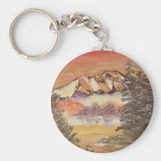 Sunset Valley Basic Round Button Keychain