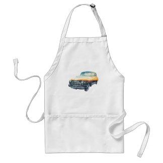 sunset vehicle double exposure adult apron