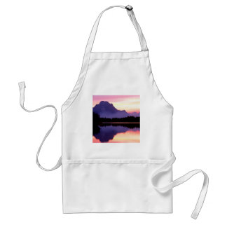 Sunset Velvet Finish Oxbow Bend Wyoming Adult Apron