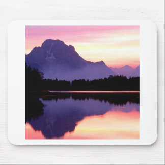 Sunset Velvet Finish Oxbow Bend Wyoming Mouse Pads