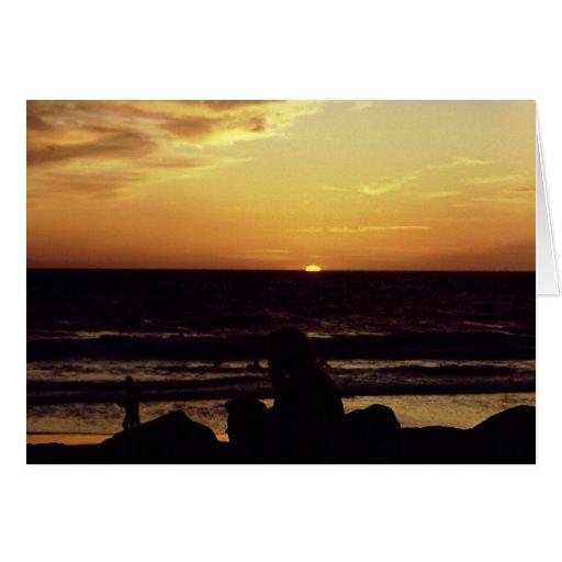 Sunset Venice CA. Card