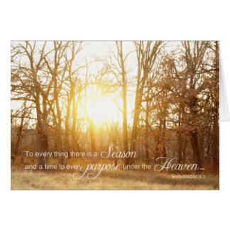 Sunset Verse Card