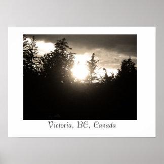 Sunset, Victoria, BC, Canada Poster