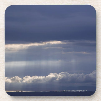 Sunset view from Montepulciano, Tuscany, Italy Beverage Coasters