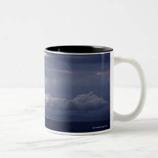 Sunset view from Montepulciano, Tuscany, Italy Two-Tone Coffee Mug