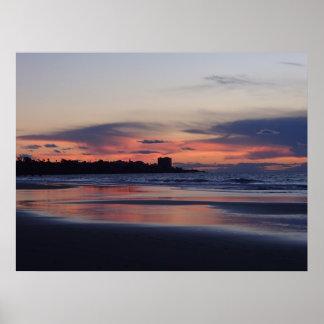 Sunset View of La Jolla, San Diego, California Poster