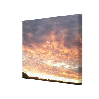 Sunset View over Dorking Summer 2016 Canvas