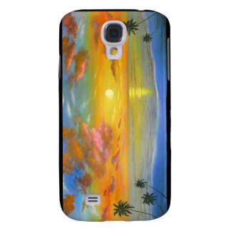 Sunset View Seascape Landscape Painting - Multi Galaxy S4 Cover