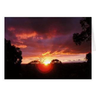 Sunset Views Card