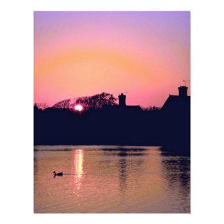 Sunset, village pond, Falmer, East Sussex, England Full Color Flyer