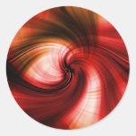 Sunset Vortex Classic Round Sticker