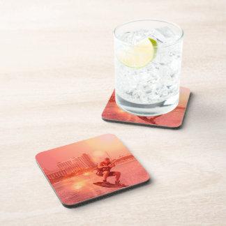 Sunset Wakeboarder Cork Coasters