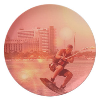 Sunset Wakeboarder Plate
