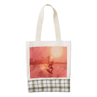Sunset Wakeboarder Zazzle HEART Tote Bag